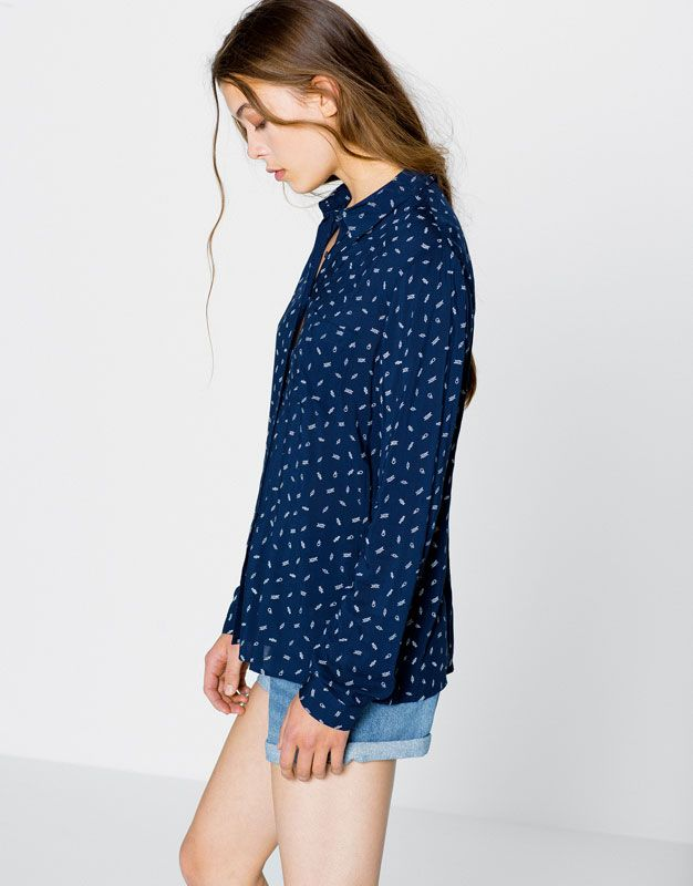 Long-sleeve shirt - Blouses & shirts - Clothing - Woman - PULL&BEAR United Kingdom