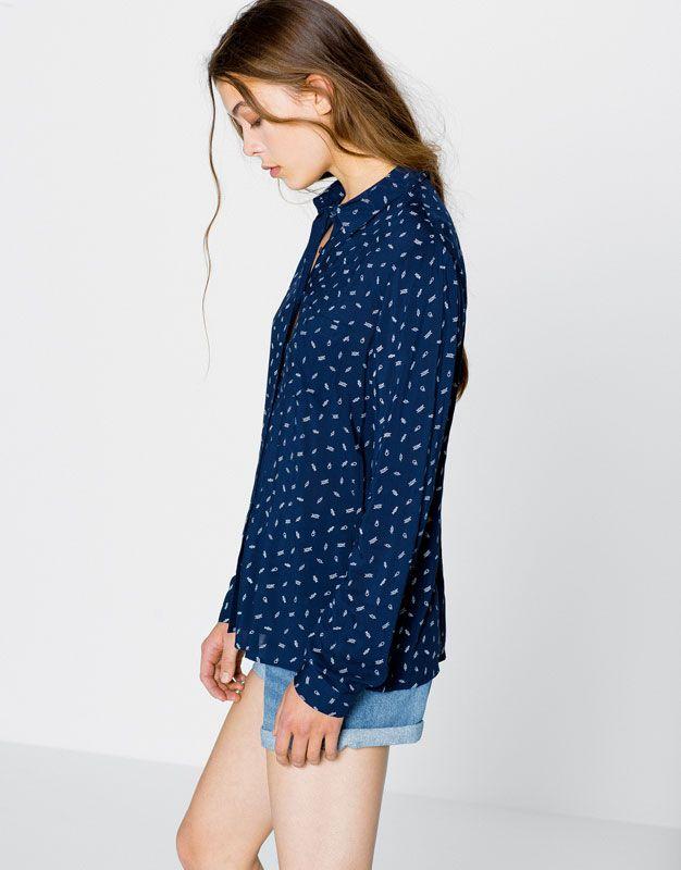 Long-sleeve shirt - Blouses & shirts - Clothing - Woman - PULL&BEAR United Kingdom
