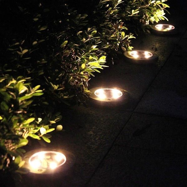 Led Solar Powered In Ground Lights In Ground Lights Solar Powered Lights Outdoor Solar Lights