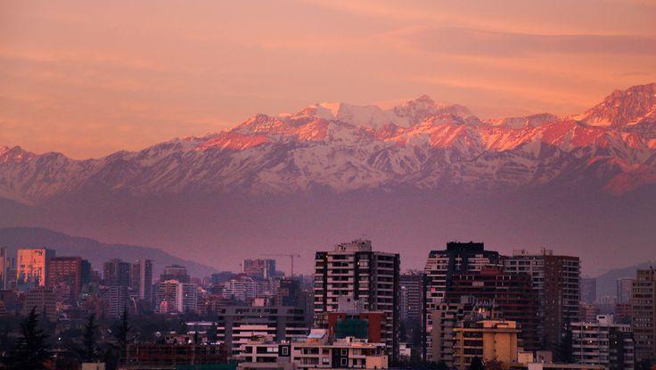 La cordillera de los Andes on fire