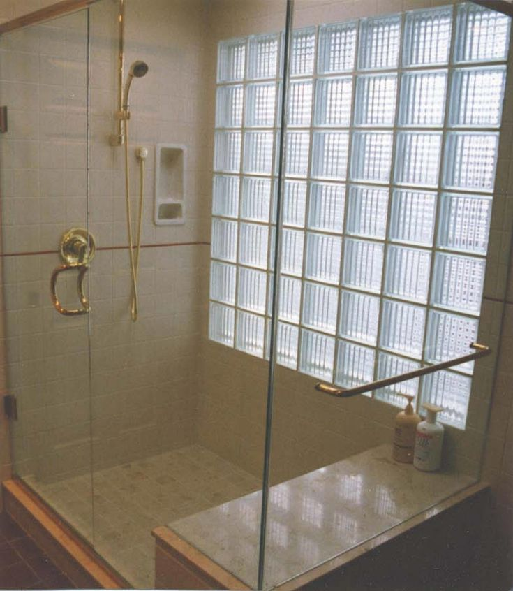 Bathroom glass block 785 903 window wall of for Bathroom designs glass