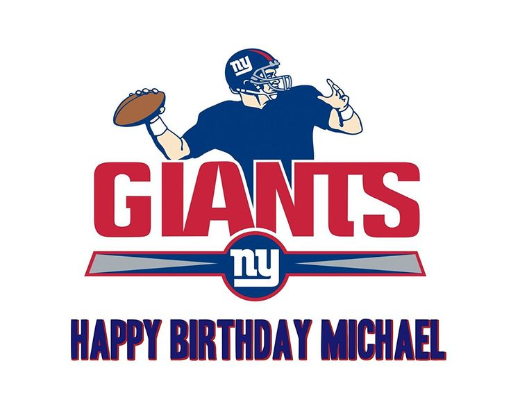 NY Giants NFL Edible Image Photo Sugar Frosting Icing Cake Topper Sheet Personalized Custom Customized Birthday Party New York Giants Sports Fan - 1/4 Sheet - 79001 -- To view further, visit : baking decorations
