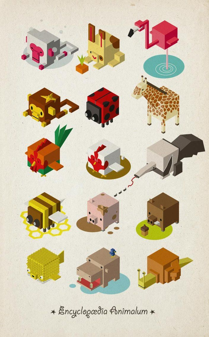 Isometric Animals by hedorah.deviantart.com on @DeviantArt