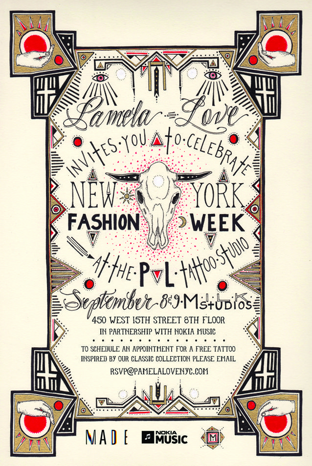 --Fashion Week Invite - --- MINKA SICKLINGER ---