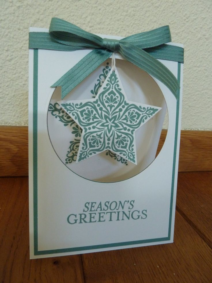 Stampin'Up Bright & Beautiful and Stars Framelits.