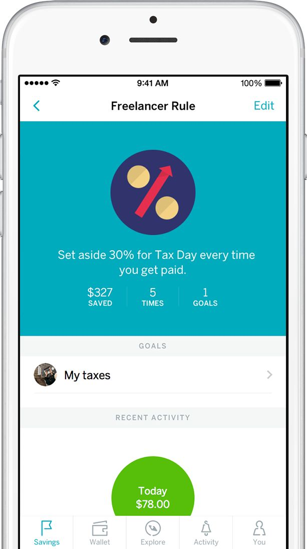 Modern Banking: ••Qapital•• Save to cover your taxes with Qapital • since 2016-02 • Savings: helps you put money aside incl. auto-save cash; improve habits • share goals with family/friends as team effort whilst keeping accounts separate • manage all a/c in 1 place • web / iOS / droid • soOn Qapital Visa Debit card to boost your savings •No annual fee / No minimum balance