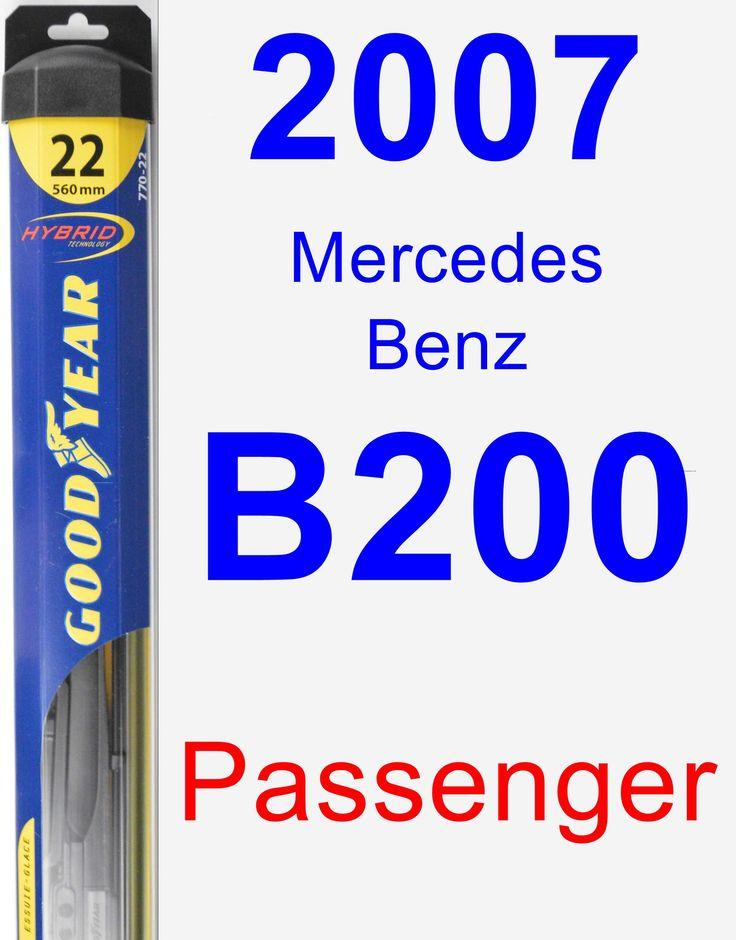 Passenger Wiper Blade for 2007 Mercedes-Benz B200 - Hybrid