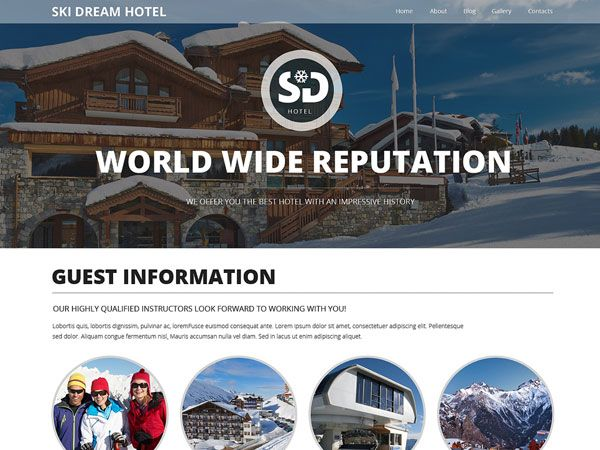 Ski Dream Hotel Template
