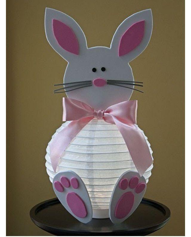 Easter craft - bunny lantern foam