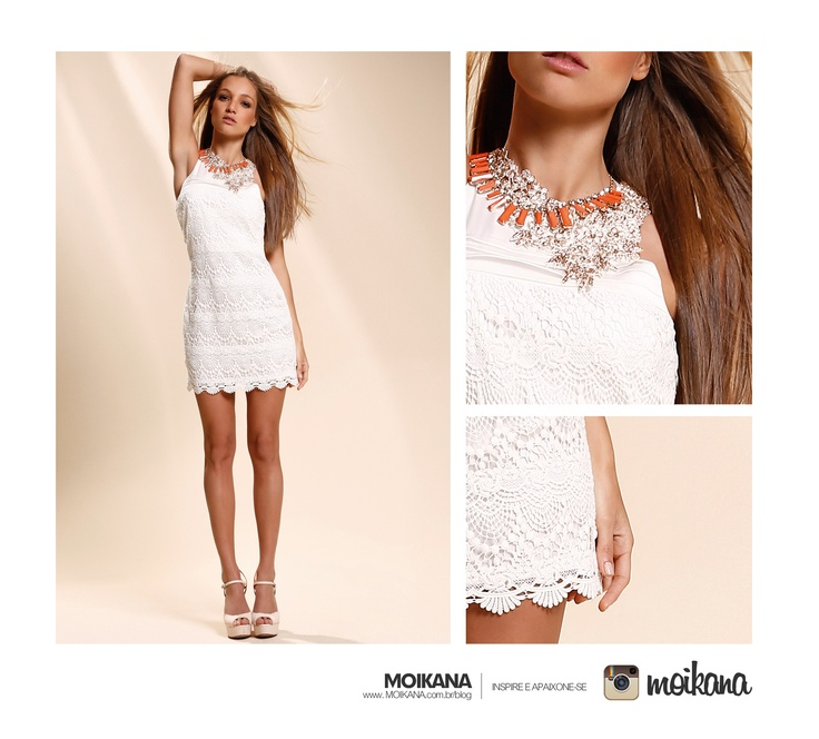 Vestido branco de Renda.: Stylish, Clothing, Olive Dresses, White Dresses, White