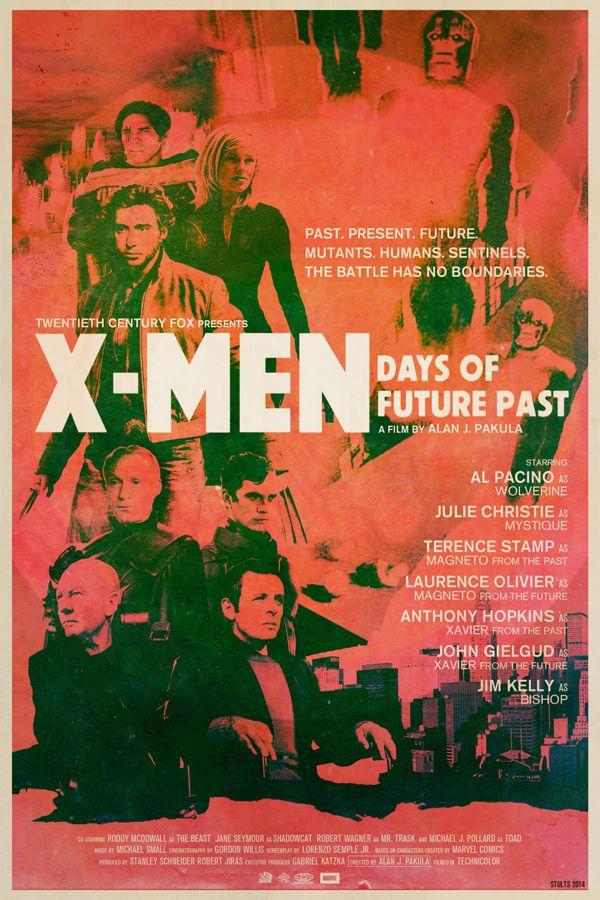 films recents autre epoque X men Days of future past Des affiches de films récents transposées dans une autre époque