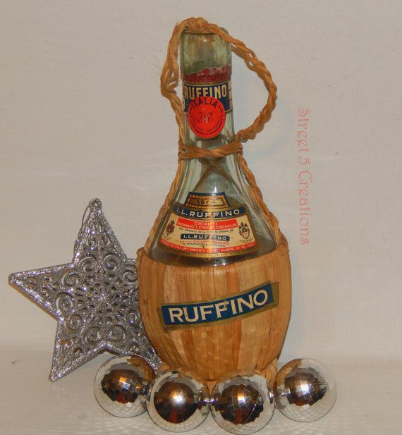 Vintage 1969 Ruffino Wine Bottle by Street5Creations on Etsy, $12.00