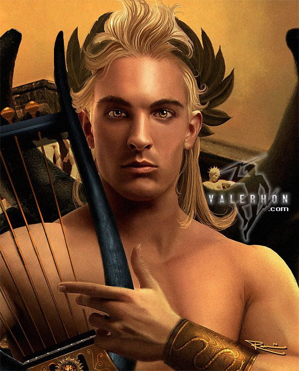 Apollo - is the Greek god of light, truth, prophecy, medicine, healing, plague, music, poetry, archery, and the arts. He has also been associated with the sun.
