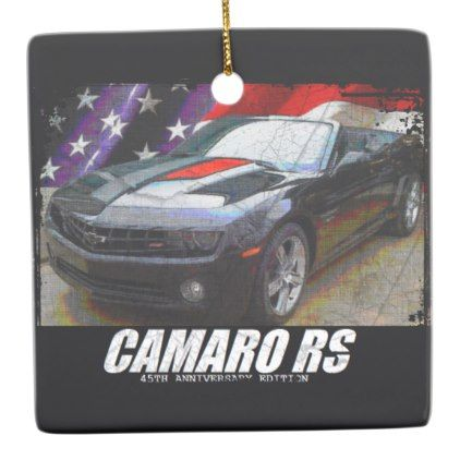 2012 Camaro RS 45th Anniversary Ed. Convertible Ceramic Ornament - diy cyo customize personalize design