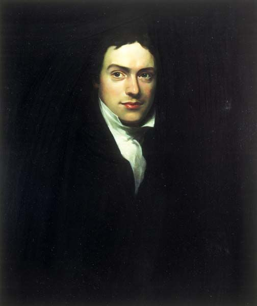 Portrait of a young Michael Faraday, by John Edwards RP, copy of a portrait by H W Pickersgill. IET Archives.