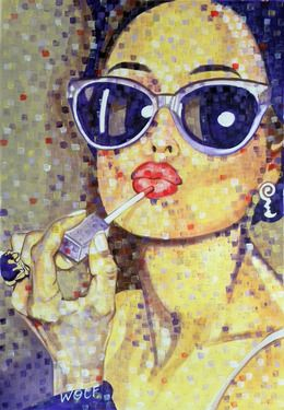"Saatchi Online Artist WOLF Art; Painting, ""'Vanity'"" #art"