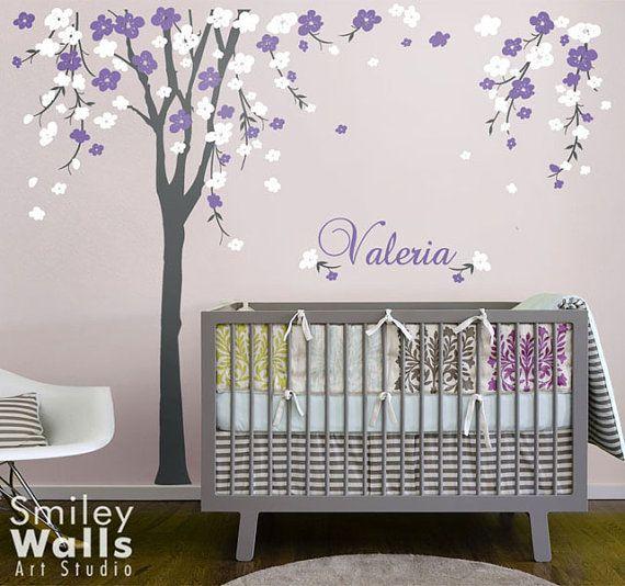 Cherry Blossom albero parete decalcomania del fiore di smileywalls