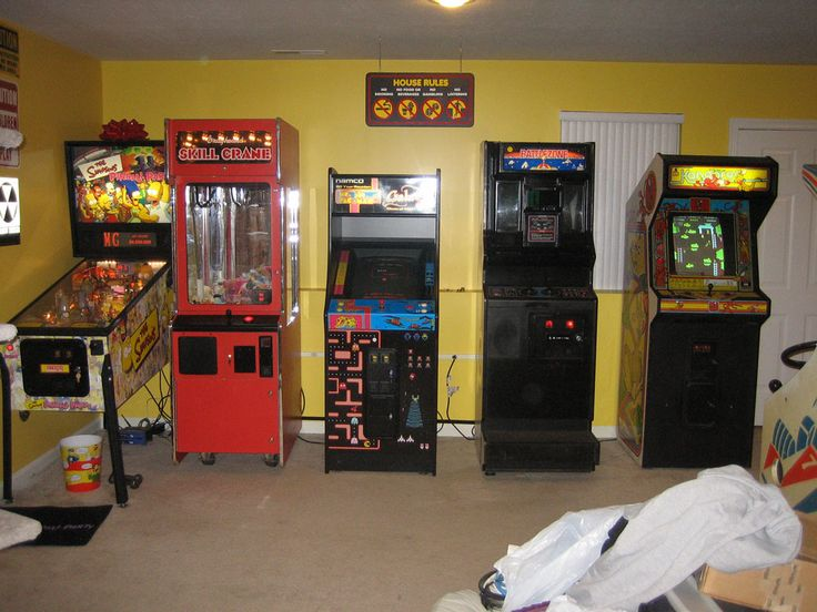 Arcade room design noise land arcade blog archive game room move sort of arcade game - Boys basement bedroom ...