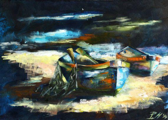 Рыбацкие лодки от RishaMak на Etsy