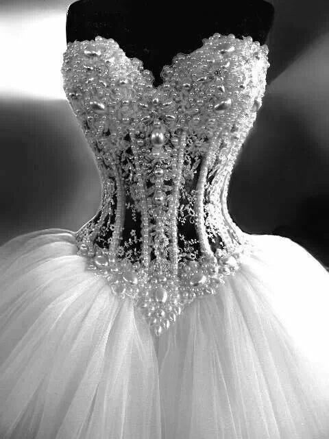 Corsetted  dress! This gown is Stunning!