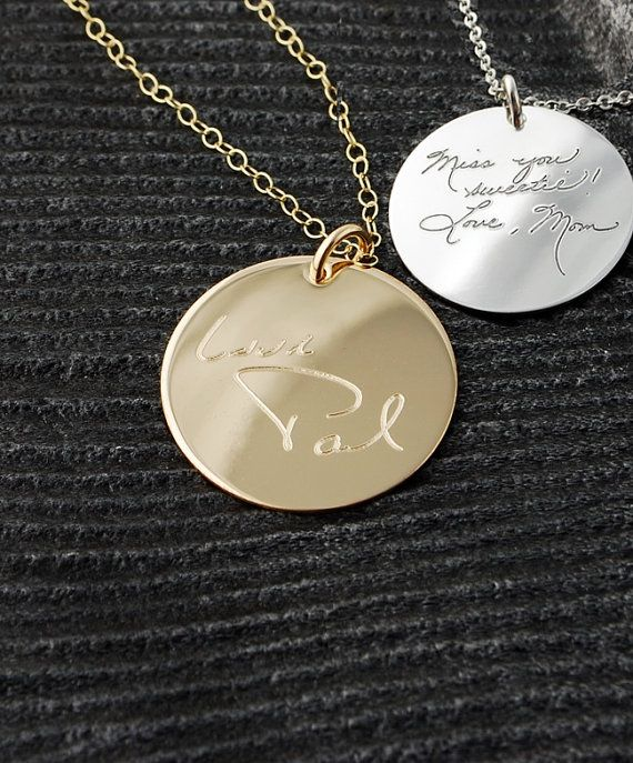 13 best Handwriting made into jewelry images on Pinterest Hand