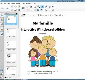 Awesome package of worksheets, interactive whiteboard materials, printable levelled book in French to reinforce vocabulary of the family.