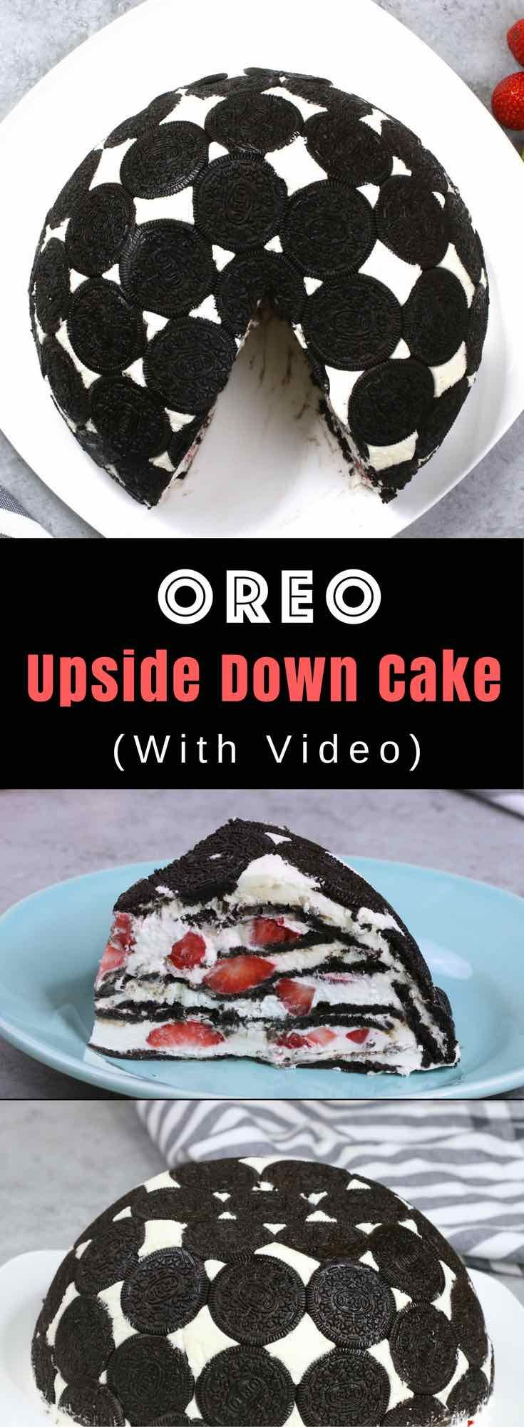 Easy Oreo Cake – So delicious and super easy to make with only a few simple ingredients: Oreos, cream cheese, sugar, cool whip, milk and strawberries. So Good! The perfect quick and easy dessert recipe. Party food. No bake. Video recipe.   tipbuzz.com via @tipbuzz
