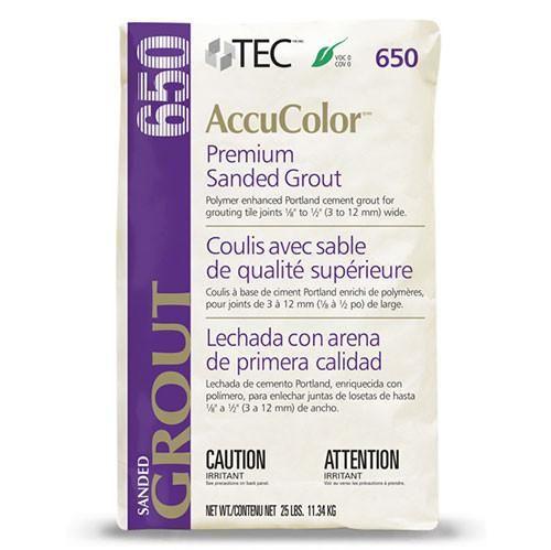 Tec AccuColor Premium Sanded Grout - 25 Lb