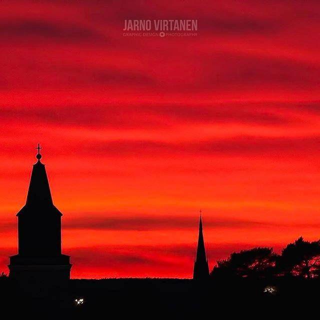 Turku sunset by Jarno Virtanen