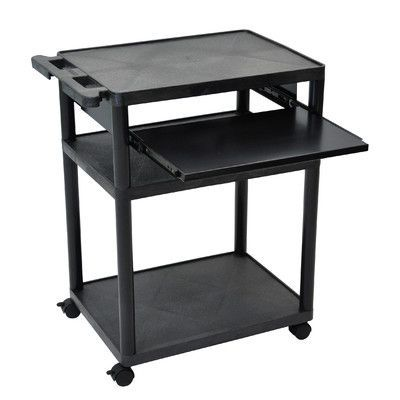 """Luxor Mobile Computer Desk AV Cart Size: 32"""" H x 24"""" W x 18"""" D"""