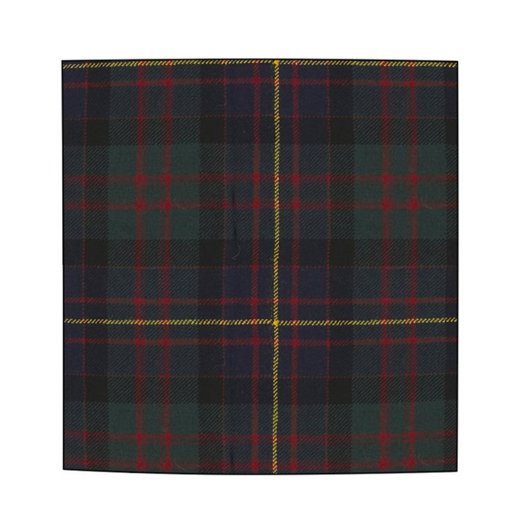 Wool tartan pocket square handkerchief