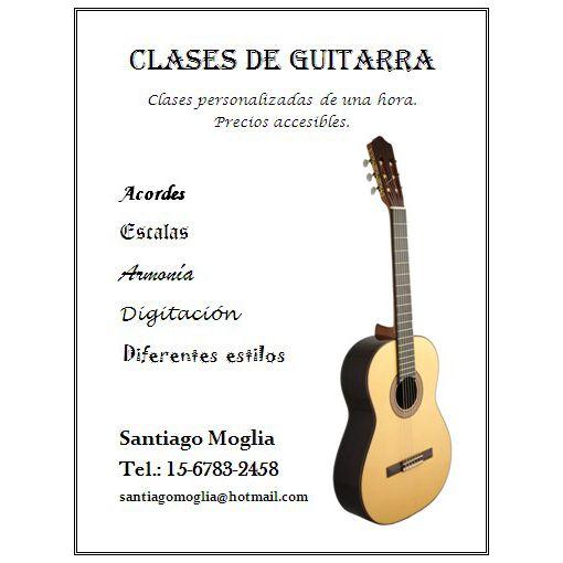 Clases de guitarra personalizadas de una hora semanal en Quilmes