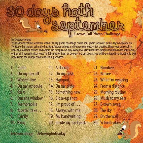 30 days hath September photo challenge