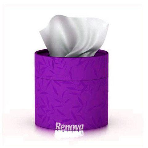 servetele faciale albe in cutie violet
