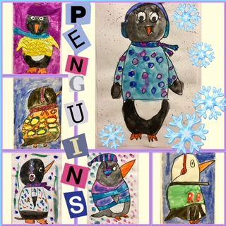 Mr. Popper's Penguins, 2nd Grade, tempera paint, Snow, winter art, drawing penguins, penguin art, Art Education, Art Education Blog, Kim and Karen 2 Soul Sisters Art Education Blog