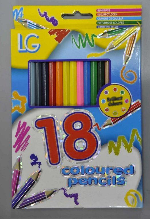 Creioane colorate in set 18 buc. art.-nr: 00190. Lei 10.-