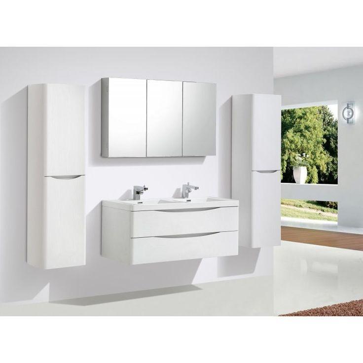 Ensemble De Salle De Bain R1200 Noyer Fonce En Option Miroir Et Meuble Mural Avec Armoire De Toilette G1 Armoire De Toilette Meuble Sous Vasque Meuble Mural