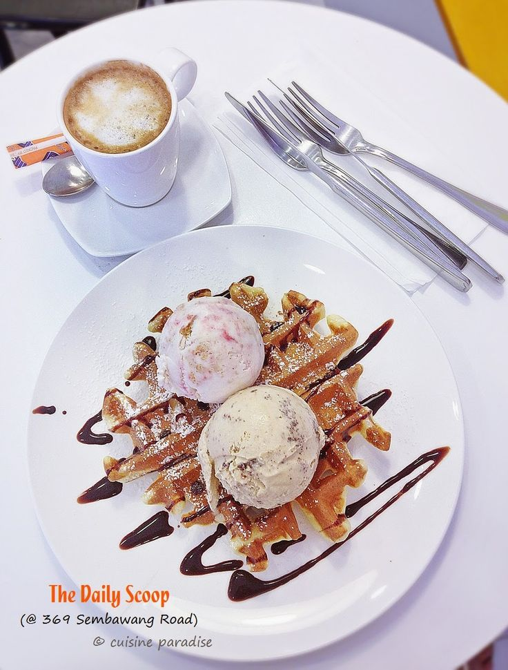 Cuisine Paradise | Singapore Food Blog | Recipes, Reviews And Travel: [New Cafes in Yishun & Sembawang] Holly Cow Creamery, Mootime, RoyceMary Cafe and The Daily Scoop - Waffle + Ice Cream + Coffee from The Daily Scoop