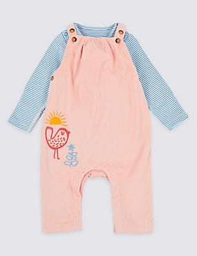 7f2a927a7 2 Piece Dungarees   Bodysuit Outfit
