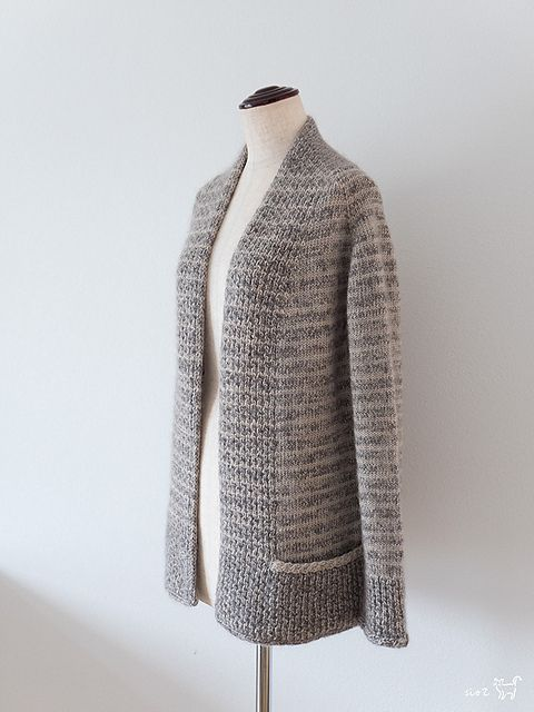 BeauB Cardigan by La Maison Rililie Designs: FO by SiO2 on ravelry. #knitting #pattern #knitindie