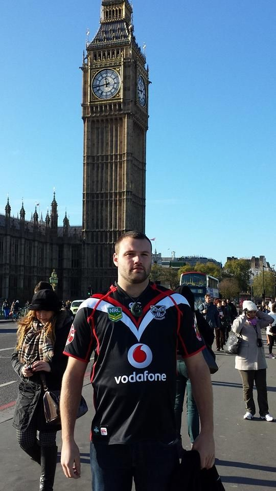 Joel Stephenson repping the Vodafone Warriors in London town