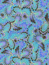 Fan & Feather - Timeless Treasures 100% Cotton Fabric CM2213 - Half Metre
