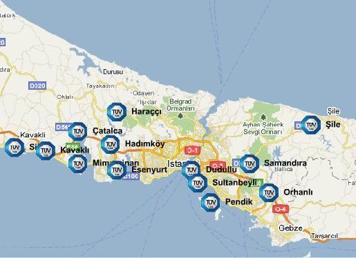İstanbul Araç Muayene İstasyonları