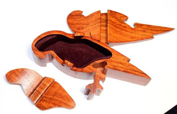 Secret Parrot Puzzle Box Vintage Wooden Puzzle Box by IguanaFindIt