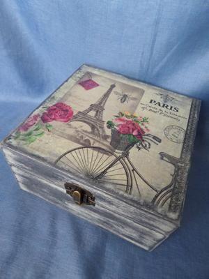 krabička z Paríža   Artmama - ručné práce a tvorivé nápady