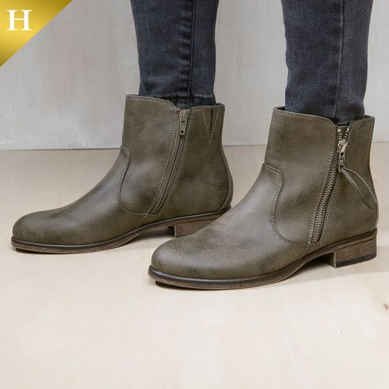 0662584d31 Ankle boot with bi-lateral working zips and elastic gore. Fabulous footwear  will never