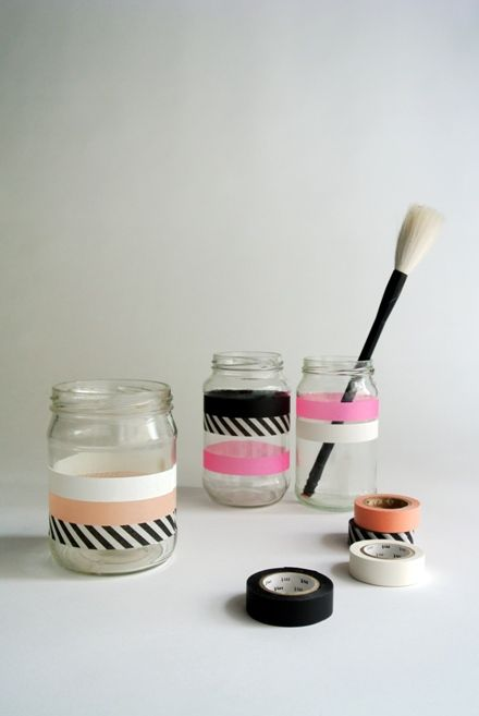 washi tape jars
