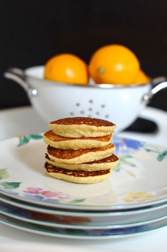 Ricotta Meyer Lemon Coin Pancakes -
