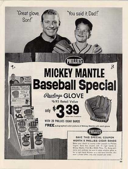 mickey mantle phillies cigars
