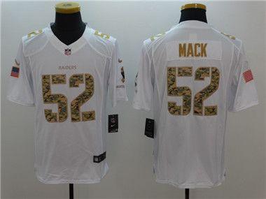 48d00eeba ... NFL Limited Jersey Mens Oakland Raiders Khalil Mack Salute to Service  White Limited Jersey Youth Nike Oakland ...